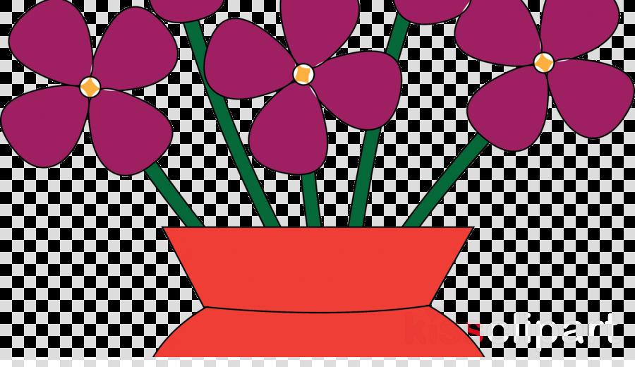 Flower in pink purple. Vase clipart violet