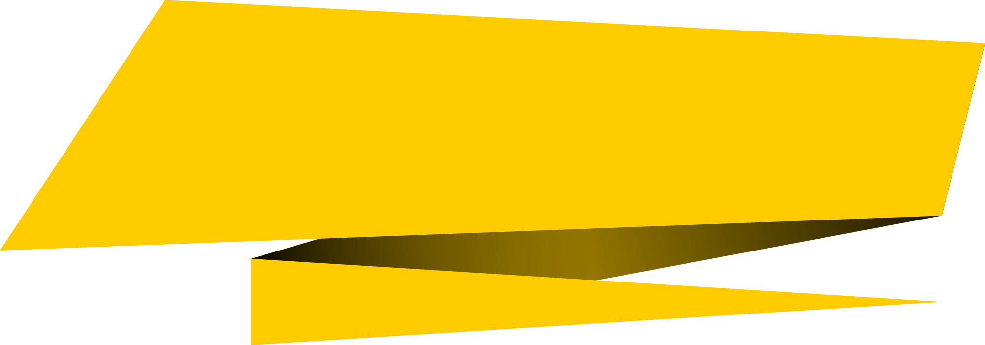 Vector banner png.  origami rectangle transparent