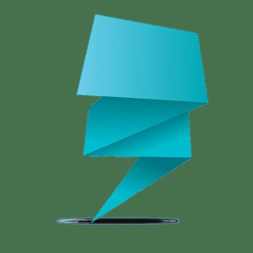 Blue origami transparent svg. Vector banner png