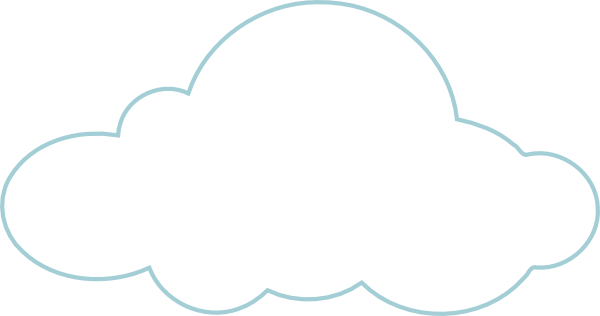 Solid white cloud clip. Vector clouds png
