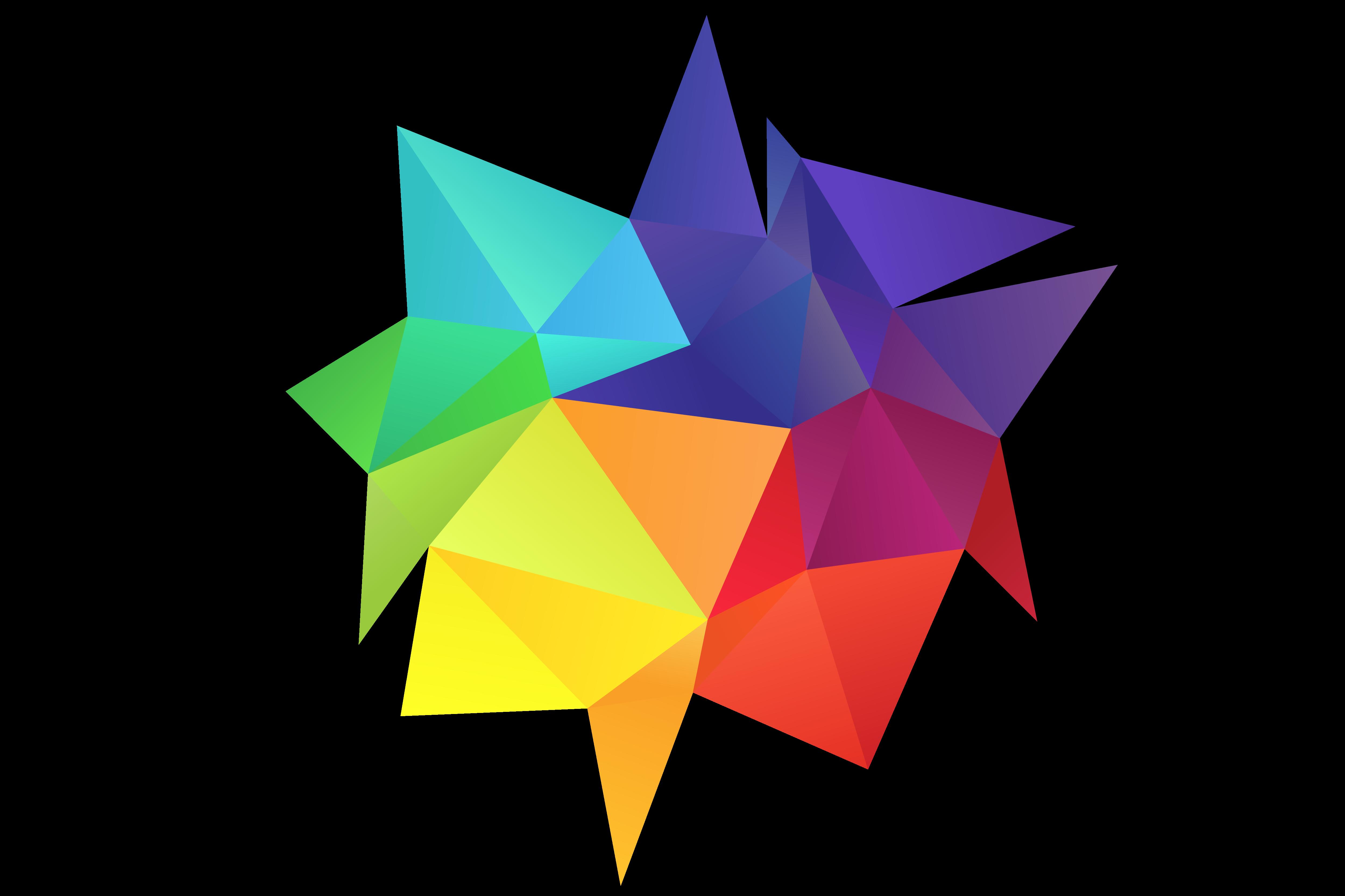 Rainbow colors element psdgraphics. Vector design png