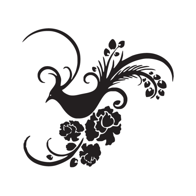 Vector flower png. Bird and for