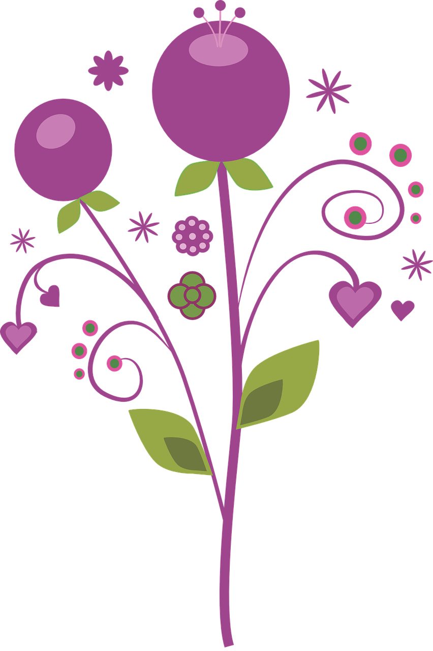 Vector flowers png. Free image on pixabay