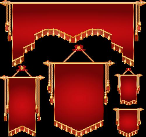 Vector shapes png. Royal banner different frames