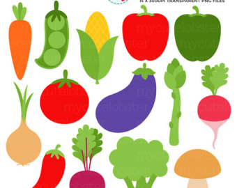 Vegetable etsy vegetables set. Broccoli clipart