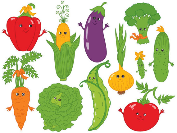 Digital vector tomato carrot. Vegetables clipart