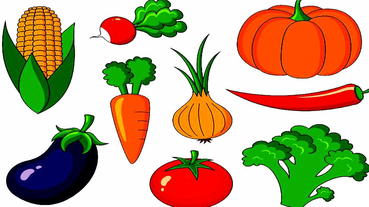 Clipart vegetables name. Vegetable with their names