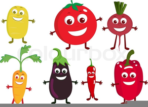 Veggies free images at. Vegetables clipart cartoon