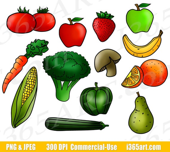 Vegetables clipart printable. Fruits and fruit clip