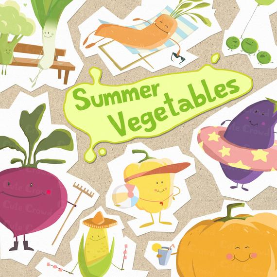 Items similar to clip. Vegetables clipart summer