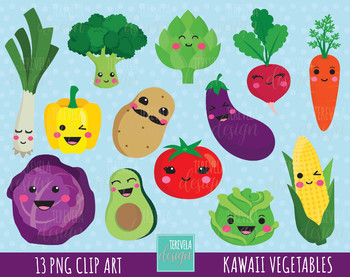 sale kawaii cute. Vegetables clipart vegy