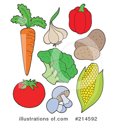 Veggies clipart. Illustration by visekart royaltyfree