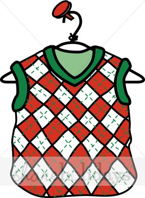 Vest clipart. Sweater christmas