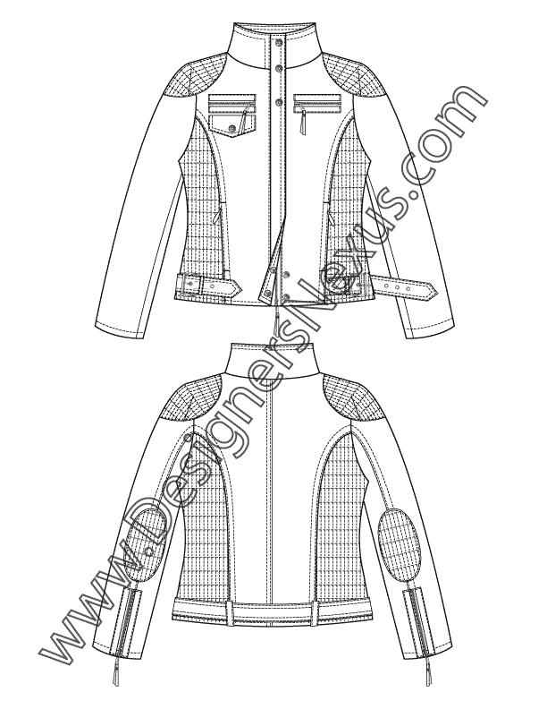 Zipper clipart sketch. V jacket flat moto