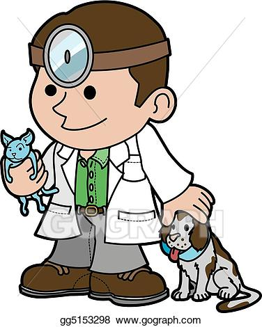 Veterinarian clipart. Vector stock illustration of