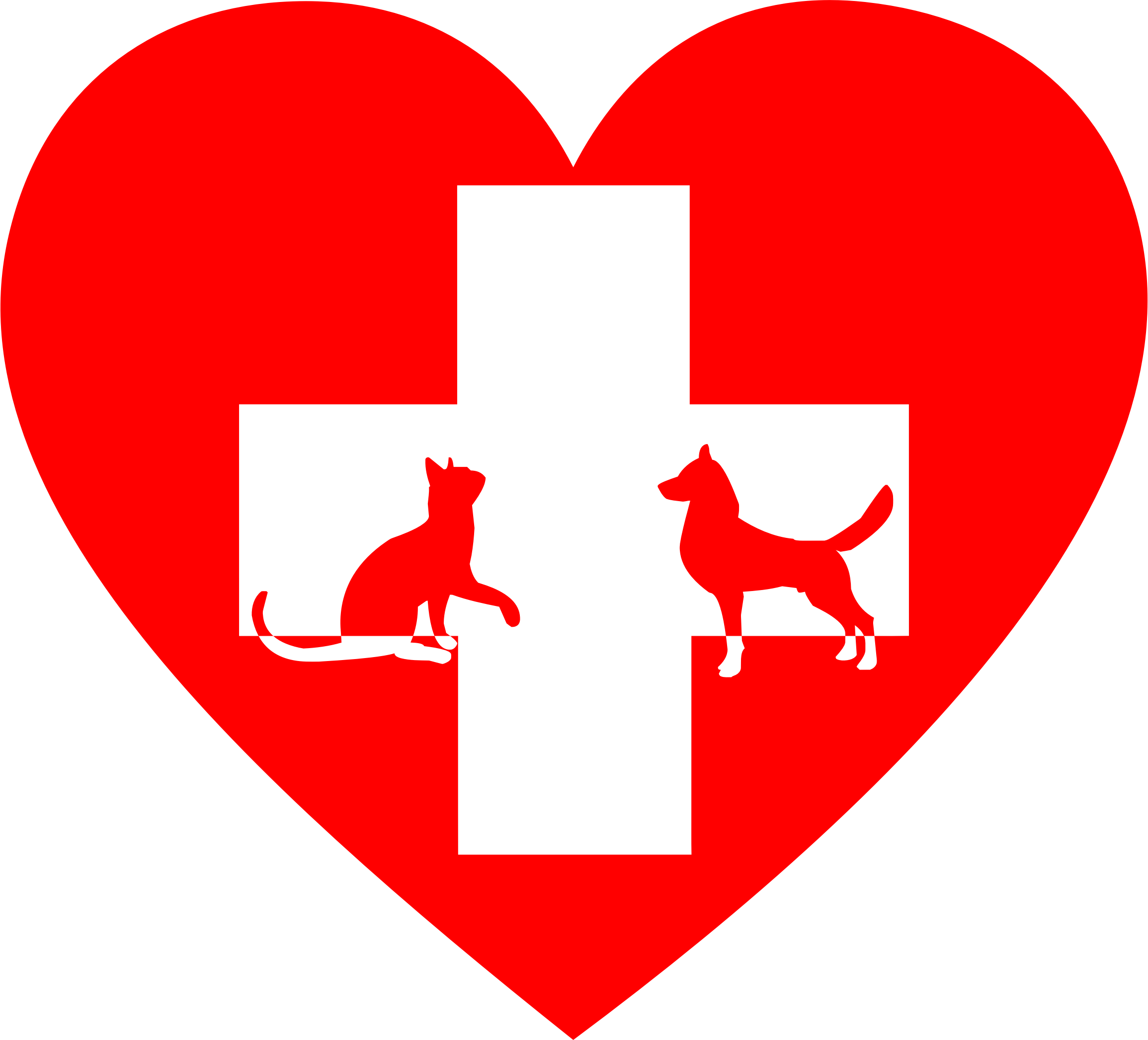 Veterinary heart big image. Health clipart first aid cross