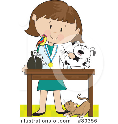 Illustration by maria bell. Veterinarian clipart