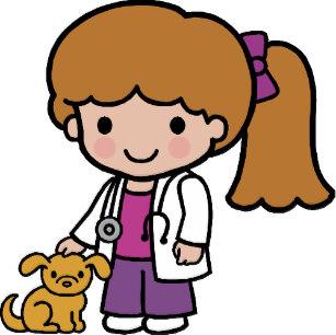Veterinary animal doctor stickers. Veterinarian clipart kid