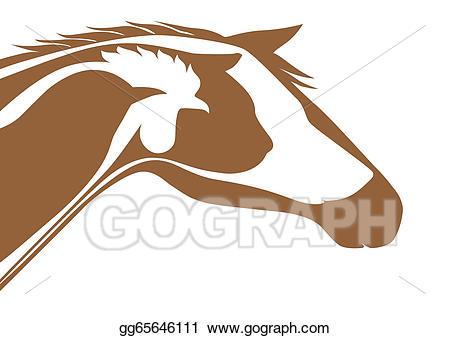 Veterinarian clipart logo. Eps illustration brown veterinary