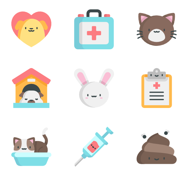 Icons free vector veterinary. Veterinarian clipart vet stethoscope