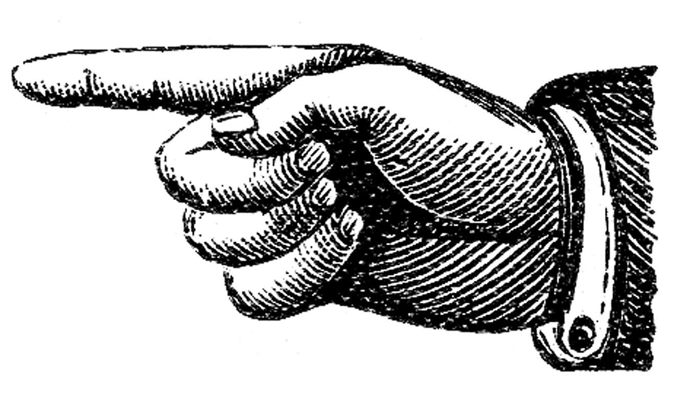 Steampunk clipart hand pointer. Victorian clip art pointing
