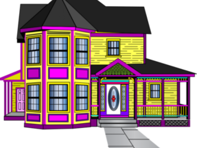 Graphic royalty free stock. Victorian house png