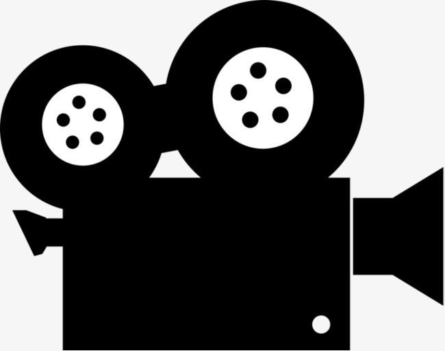 Film machine black leave. Video clipart