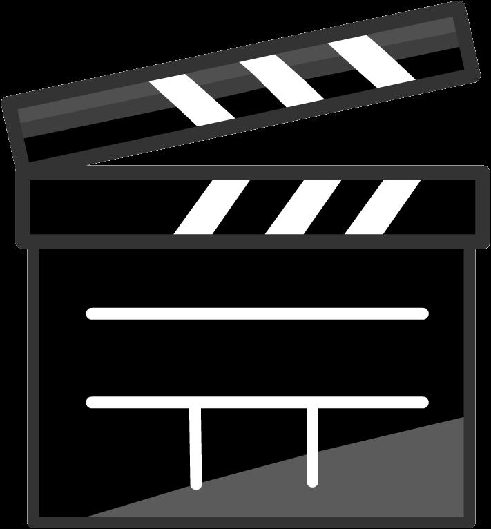 Image clapper png penguin. Video clipart film club
