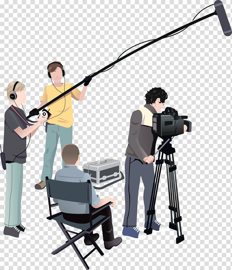 Video clipart movie producer. Microphone film crew director