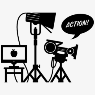 Photography film set png. Video clipart movie producer