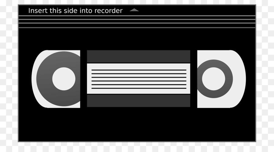 Tape illustration text technology. Video clipart video cassette