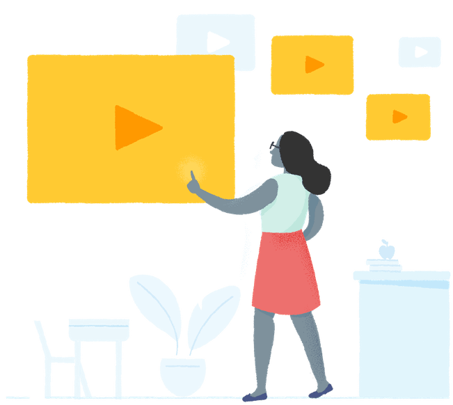 Video clipart watch video. Edpuzzle pick a add