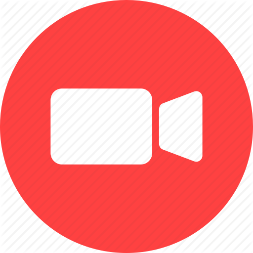 Video icon png. Social messaging ui color