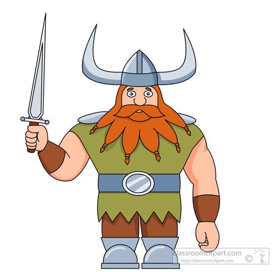 Viking clipart. Free vikings character holding
