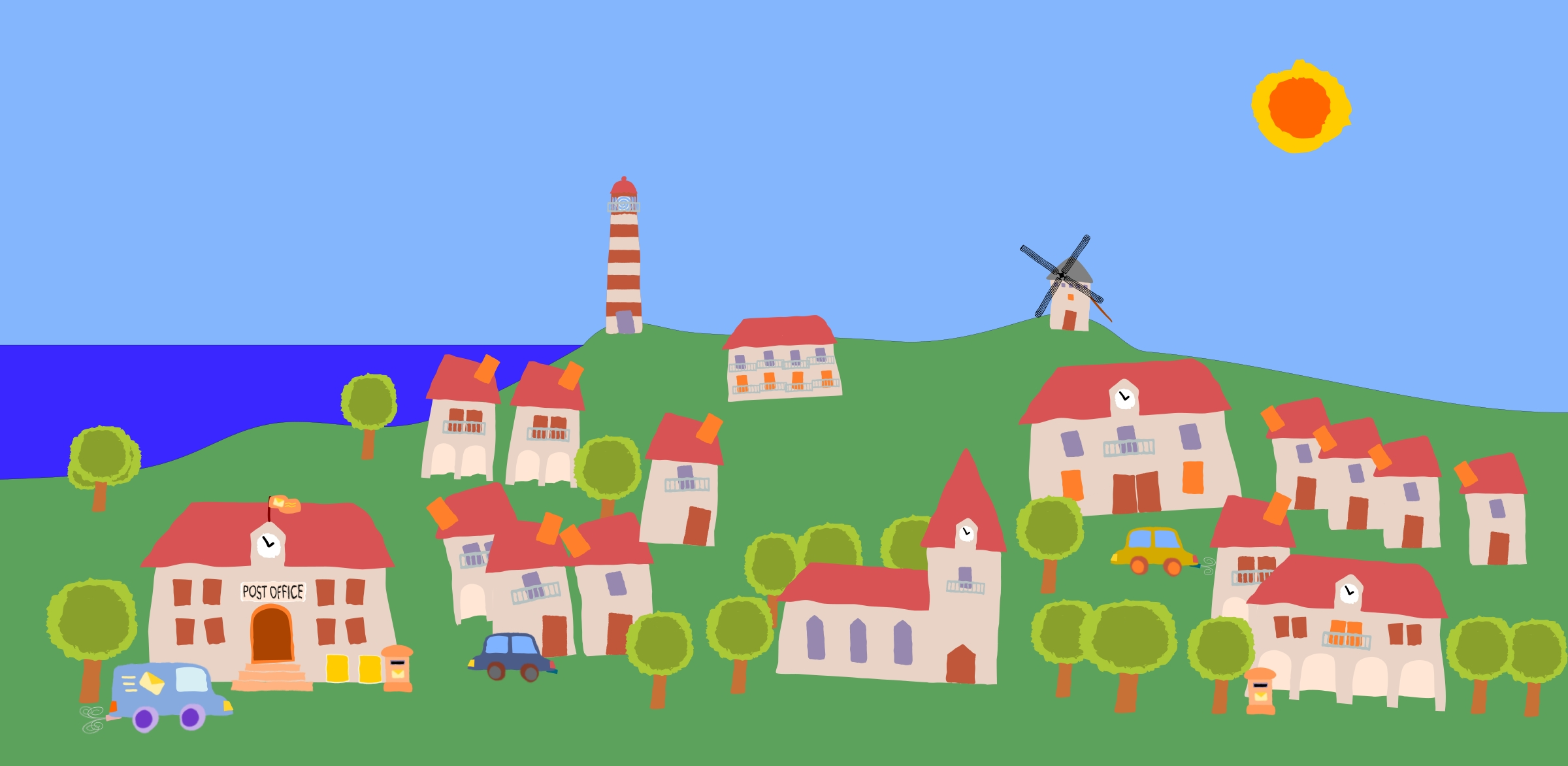 Awesome design digital collection. Village clipart