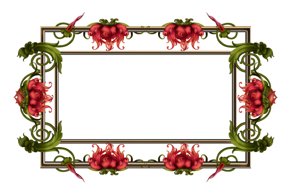 By collect and creat. Vine frame png