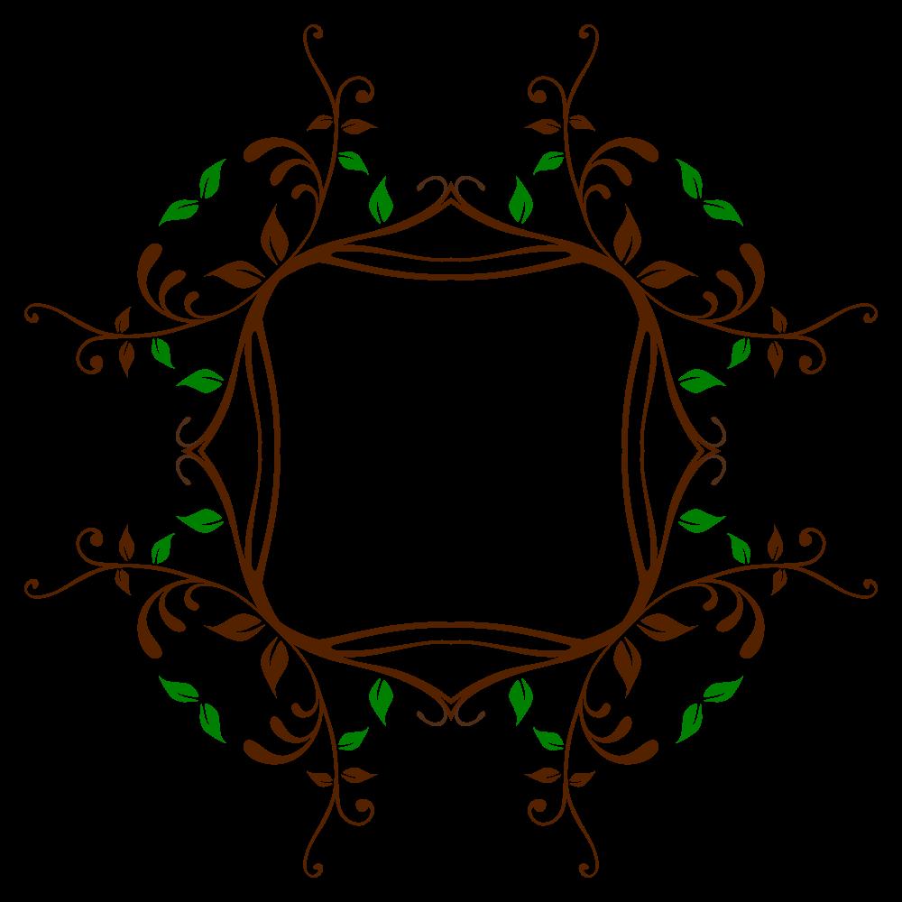 Vine frame png. Onlinelabels clip art leafy