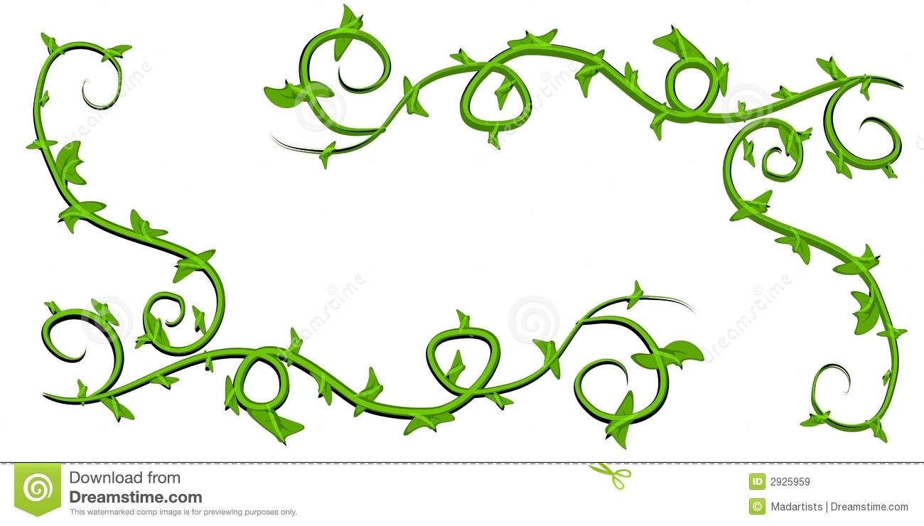 Vines clipart. Green leafy clip art