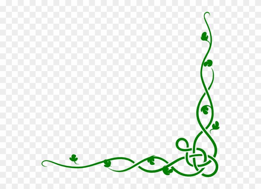 Green vine vines png. Ivy clipart border