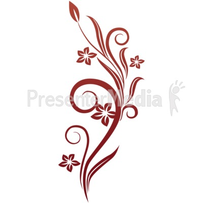 Vines clipart animated. Swirl red flowers wildlife