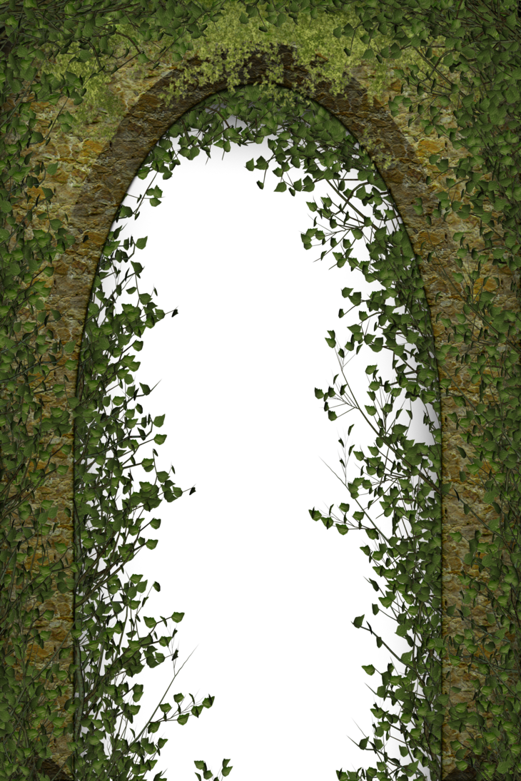 Vines clipart archway. Entrance with creeping plants