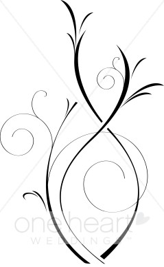 Vines clipart artistic. Elegant black and white