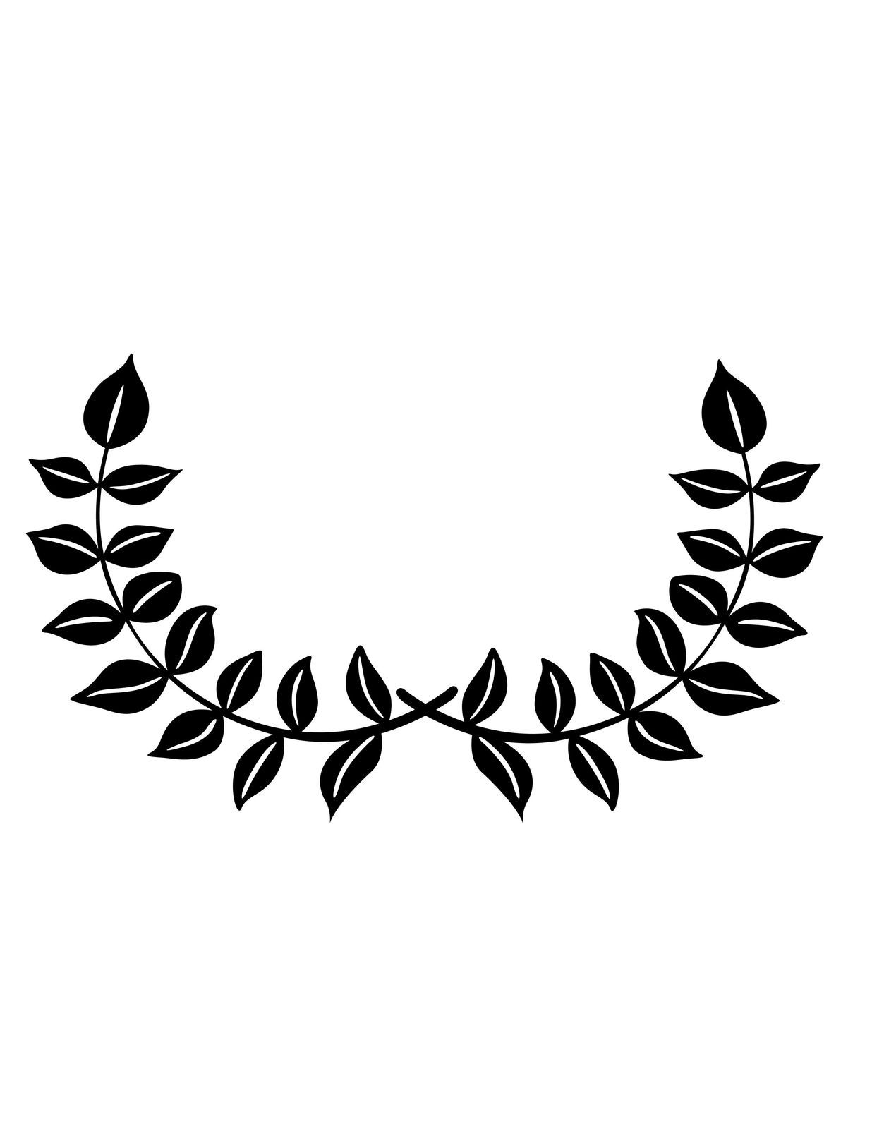 Vines clipart calligraphy. Vine leafy silhouette black