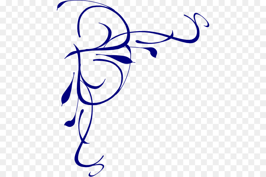Black and white flower. Vines clipart calligraphy