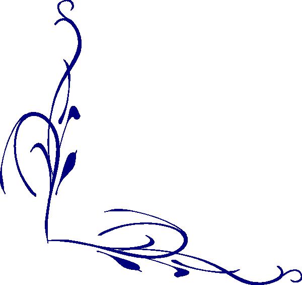 Vines clipart calligraphy. Blue vine clip art