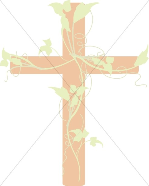 Vines clipart cross. With