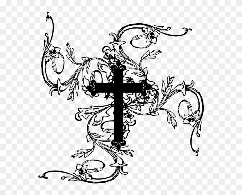 With tattoo hd png. Vines clipart cross