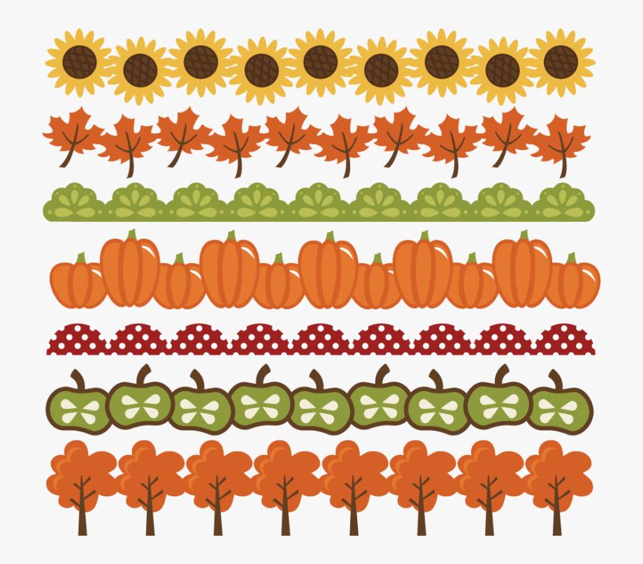 Vines clipart cute. Autumn fall border