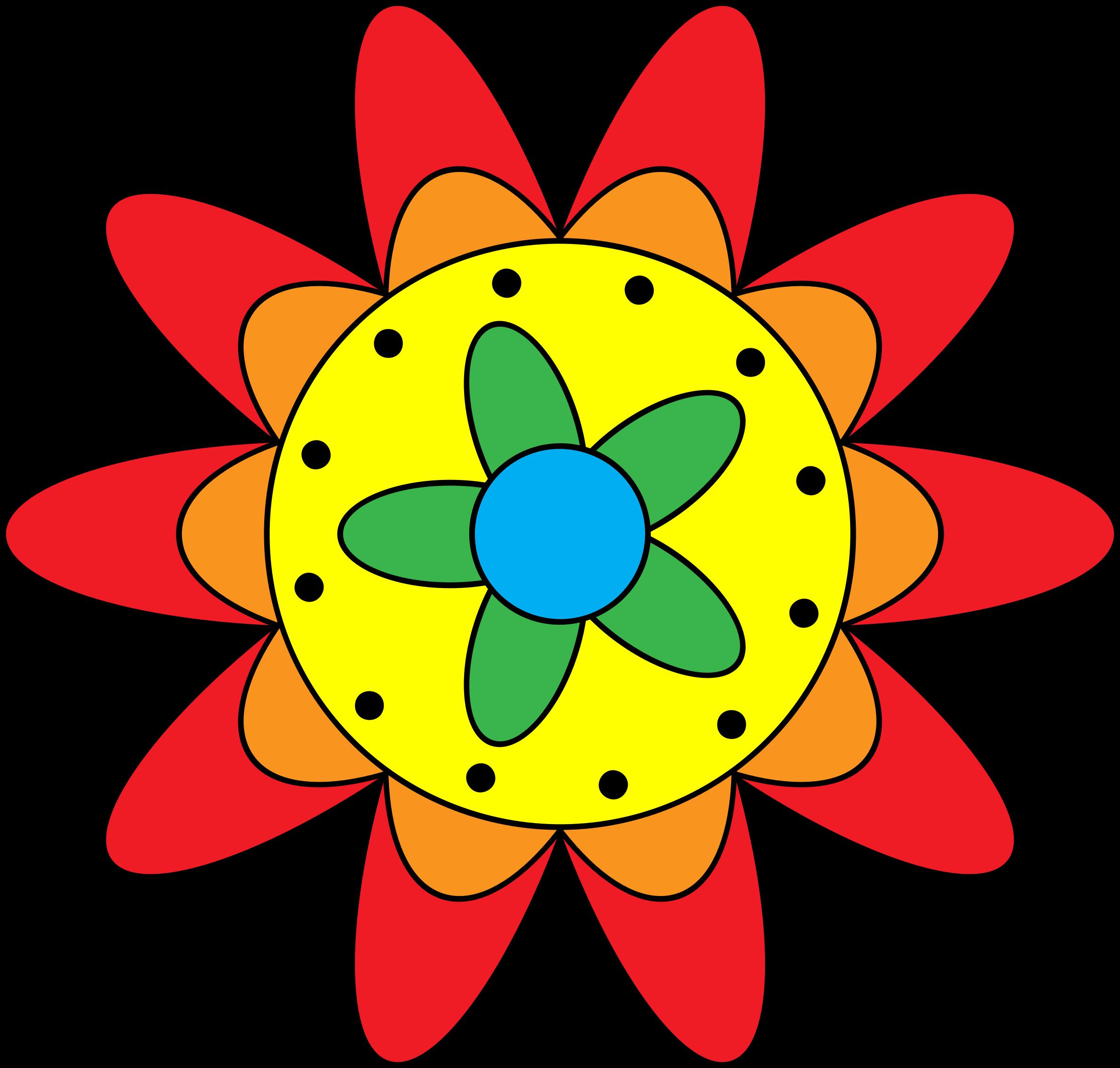 Triple flower clipground. Vines clipart doodle