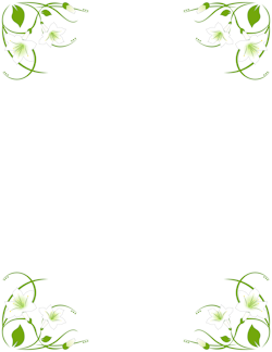Lily border thangamani borders. Vines clipart easter